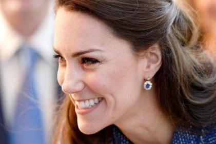 The Duchess of Cambridge dazzles in lace Alexander McQueen gown