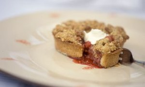 Strawberry and apple crumble