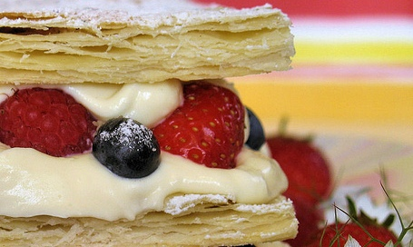 Millefeuille of summer berries