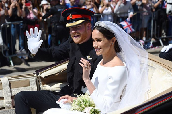 Harry and Meghan share rare candid snap from their wedding day