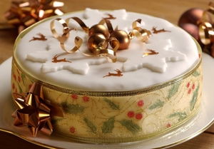 Easy light christmas cake