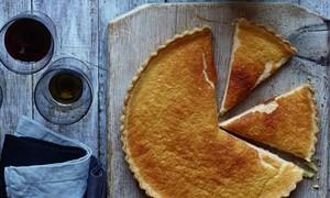 Cardamom custard tart
