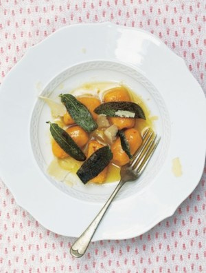 Pumpkin gnocchi with sage brown butter