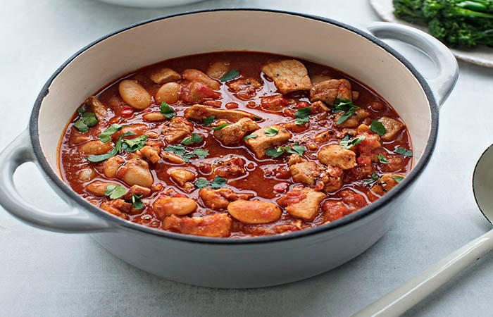 Pork with Bacon, Paprika and Butter Beans