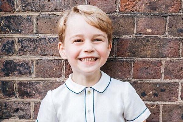 Uh-oh: Prince George has picked up a very cheeky Christmas habit