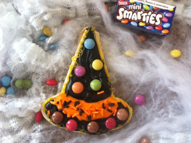 Witches Smarties cookies