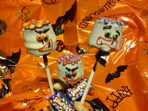 Scary smartie heads