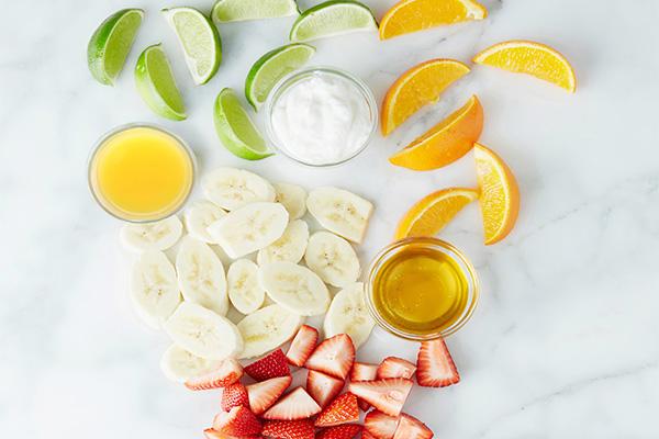 Orange, Strawberry and Banana Smoothie