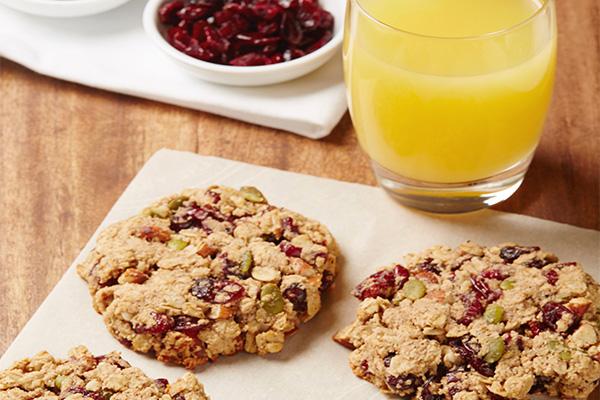 Tropicana Orange Almond Breakfast Cookies