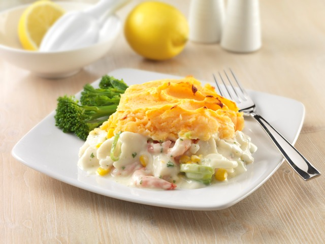Fish and leek pie