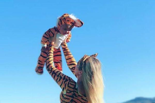 Khloe Kardashian and Tristan Thompson celebrate Halloween with baby True