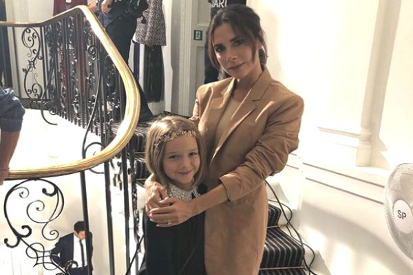 Victoria Beckham just shared a photo of Harpers uniform and its ADORABLE