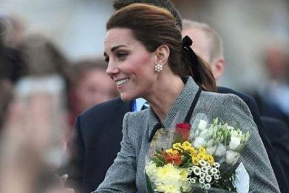 Duke and Duchess of Cambridge arrive at first joint engagement of the year