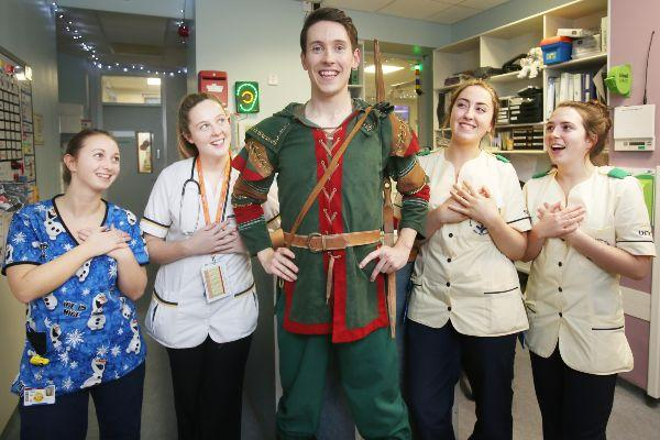 A magical surprise: The cast of Robin Hood visit Temple Street Hospital