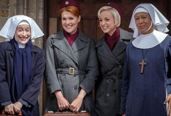 Quite hippy and simple: This Call the Midwife actor wed and she looks stunning