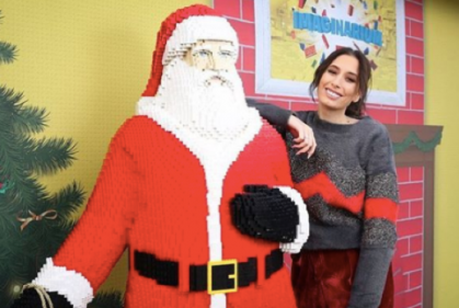 Stacey Solomon celebrates New Year with some family festive fun