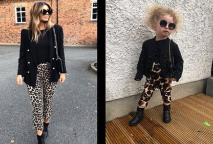 This baby influencer twinning with fashionable celebrities and is the CUTEST
