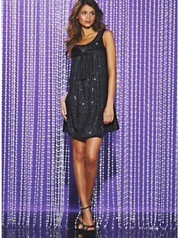 Darling Sequin Babydoll Dress