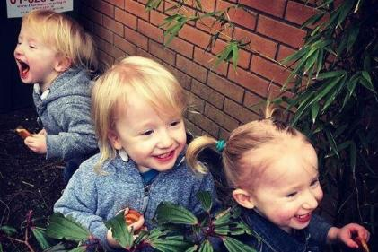 Biscuits are my weapon of choice: The reality of being a mum of toddler triplets