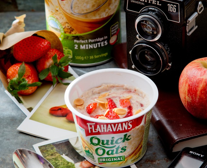 Peanut Butter & Jelly Porridge with Flahavan's