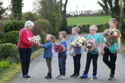So sweet: Star of Aldi's Swap and Save  ad is surprised by her grandchildren