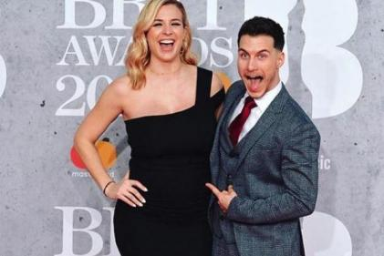Kicking away: Mum-to-be Gemma Atkinson shares photo of ultrasound