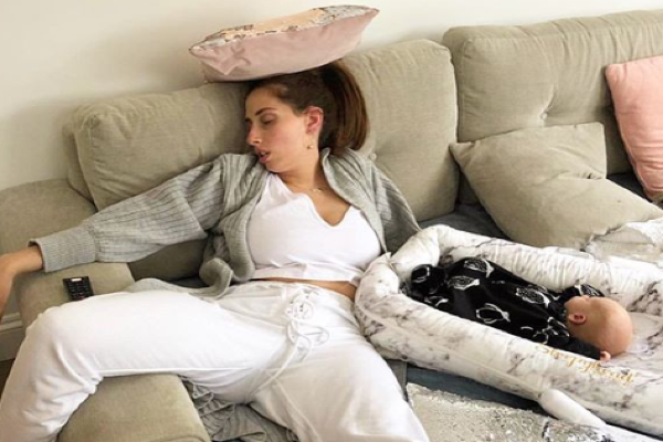This photo of Stacey Solomon perfectly shows the reality of being a new mum