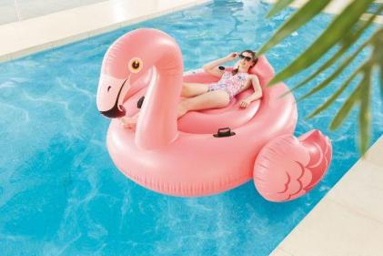 Aldi are selling a giant flamingo float and the kids will LOVE it