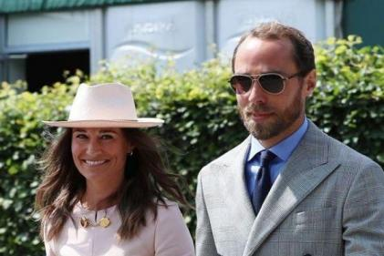 Pretty in Pink: Pippa Middleton arrives at Wimbledon in chic Stella McCartney dress