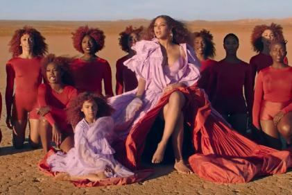 The Lion King star Beyoncé unveils breathtaking video for Spirit, feat. Blue Ivy