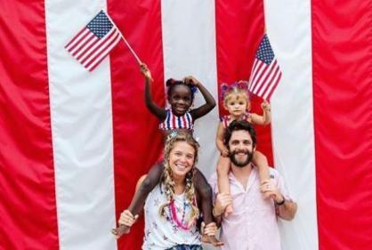 Baby joy for country singer Thomas Rhett and wife Lauren Akins
