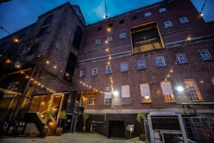 An outdoor cinema has been set up in the Guinness Open Gate Brewery
