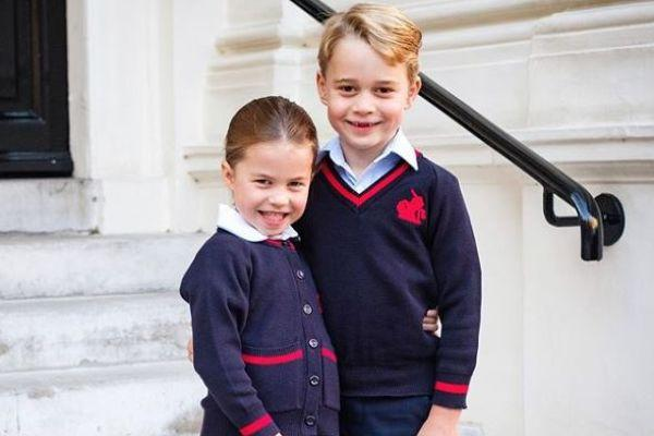 Kate said the sweetest thing to Princess Charlotte on her first day of school