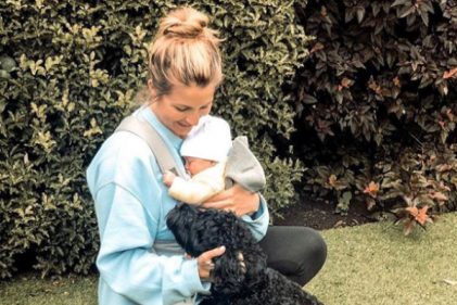 Gemma Atkinson proves its safe to have her dogs near baby Mia