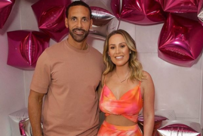 Mr and Mrs: Rio Ferdinand and Kate Wright share first photo from wedding
