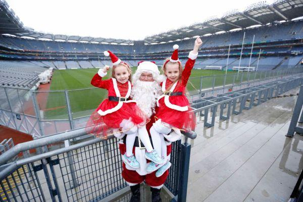 The kids can visit Santa's elf training camp at Croke Park this Christmas