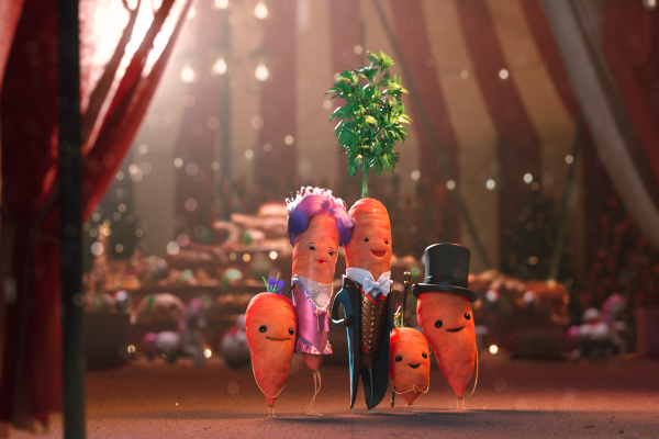 Kevin the Carrot faces the Leafy Blinders in new Aldi Christmas advert