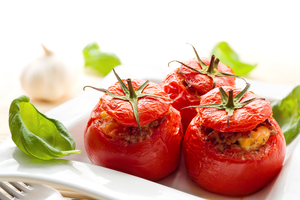 Savoury stuffed tomatoes