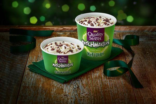 McDonalds Christmas menu is here and the Matchmakers McFlurry is back!