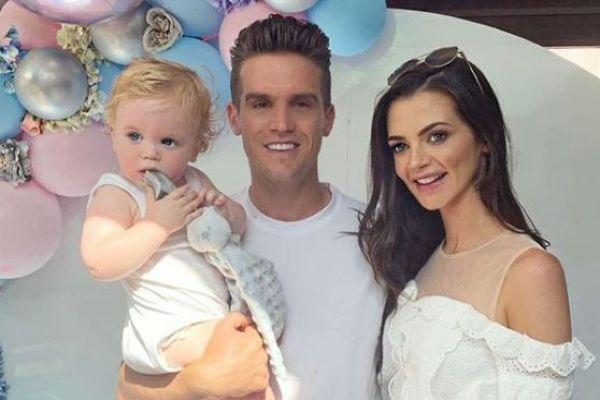 So special: Gaz Beadle reveals his baby girls beautiful name
