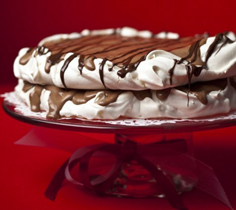 Chocolate meringue torte