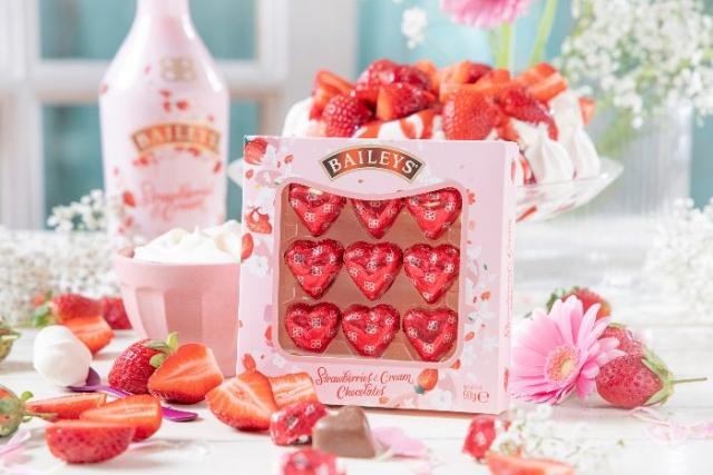 Baileys strawberries and cream chocolates arrive just in time for Valentine's Day