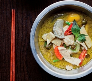 Green monkfish curry (Gaeng Kiew Wann Pla)