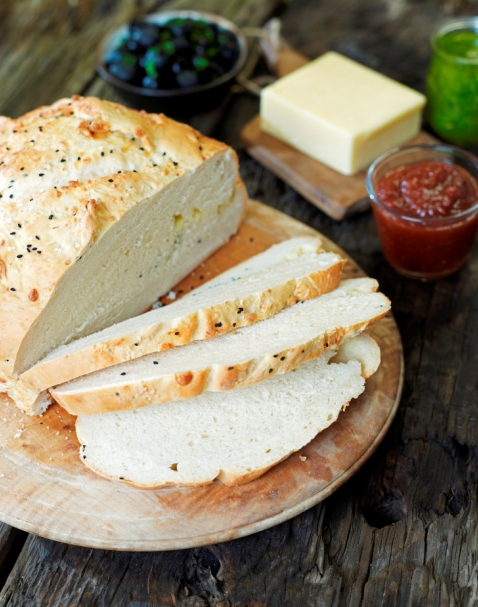 Cheese and onion seed bread