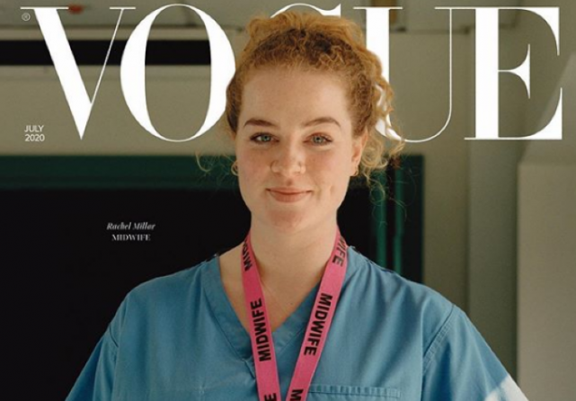 Healthcare Hero: Irish midwife Rachel Millar appears on cover of British Vogue