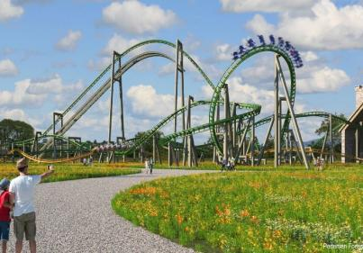 Tayto Park announces approval of two new steel intertwining rollercoasters