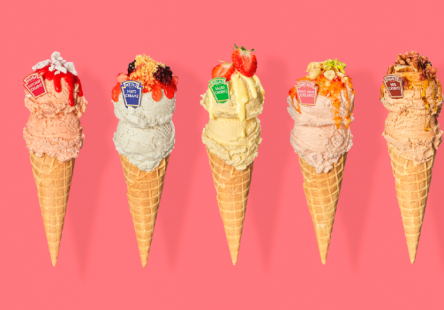 Ketchup ice-cream anyone? Heinz just launched special ice-cream sauces