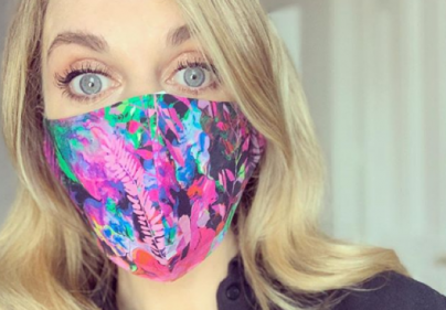 Amy Huberman encourages public to help others by wearing masks