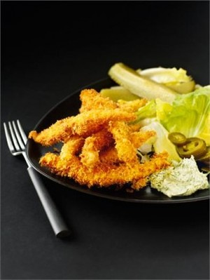 Goujons of sole with dill mayonnaise