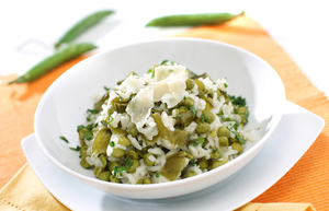Lemon and pea risotto